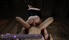 DreamSexWorld game with reverse cowgirl ass fuck